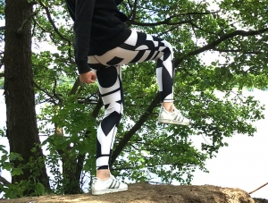 Katy in Adidas Leggings am See