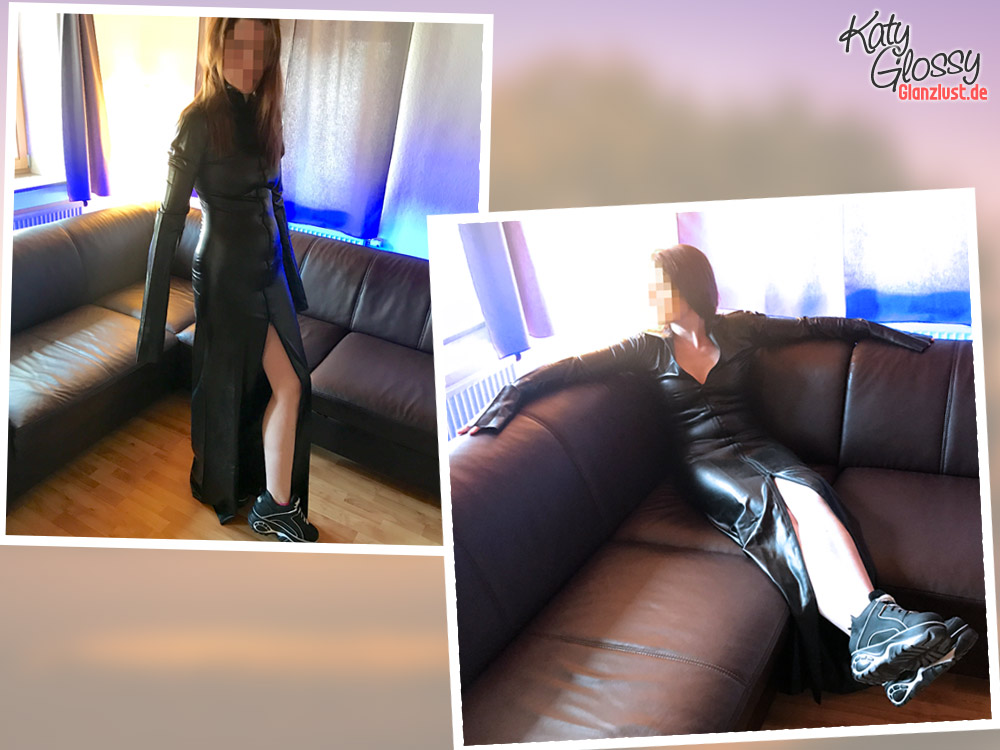Katy Glossy im Latexkleid ohne Latexpflege